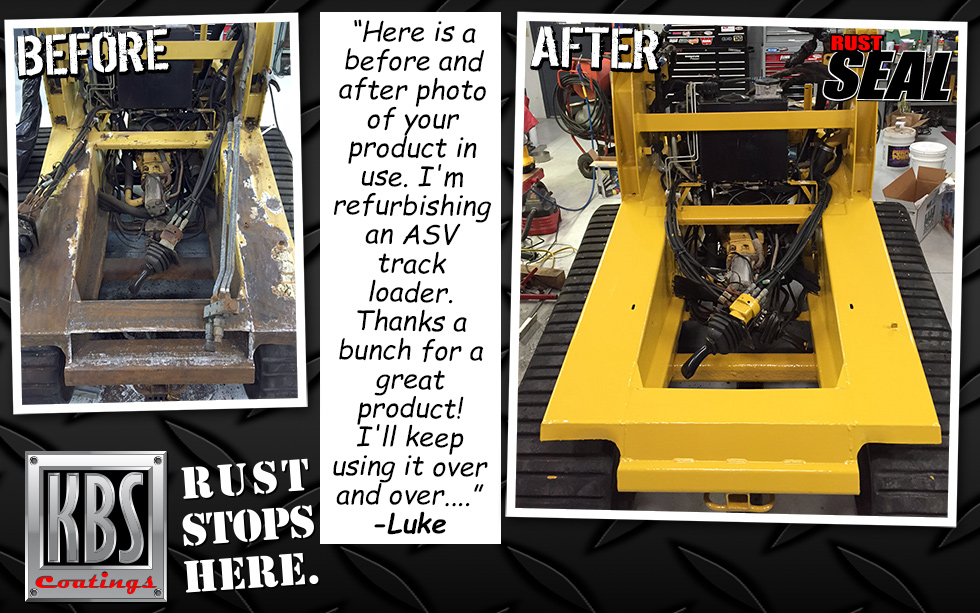 RustSeal on ASV Track Loader