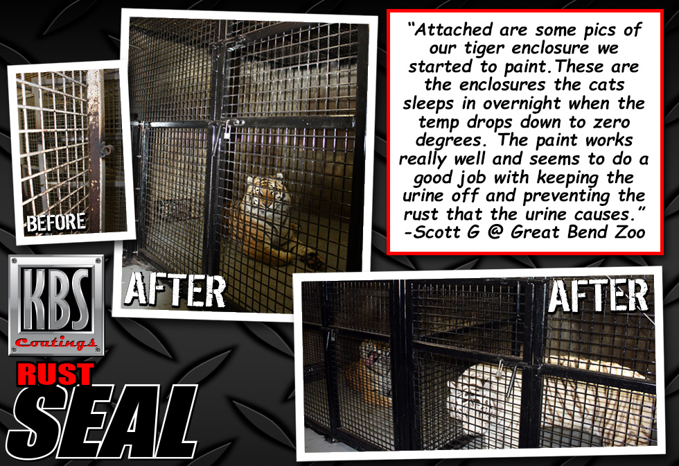 RustSeal - Rust Prevention - Tiger Cages