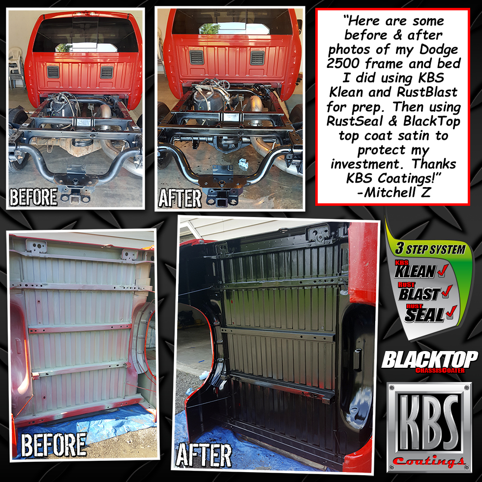 Dodge 2500 Frame and Bed - Truck Restoration - KBS Coatings News and ...