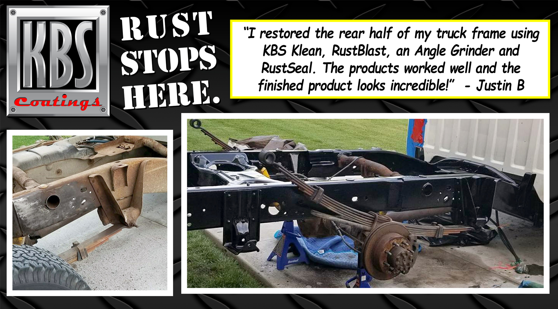 Restored Truck Frame - KBS Coatings News and Updates
